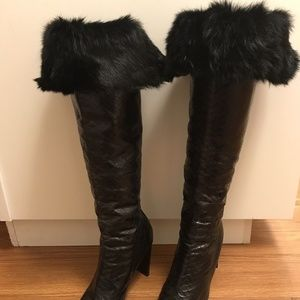 1a48f3da864 Vintage 90 s Snakeskin leather Over the Knee Boots